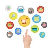 Conceito do comércio eletrônico Imagens de Stock