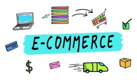 Conceito do comércio eletrônico Foto de Stock