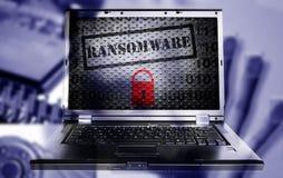 Conceito do computador de Ransomware foto de stock royalty free