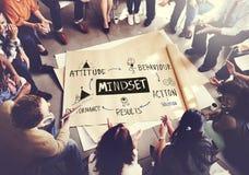 Conceito do conhecimento da experiência da disciplina da opinião do Mindset imagens de stock royalty free