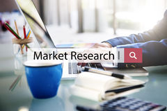 Conceito do consumidor de negócio da análise dos estudos de mercado imagens de stock royalty free