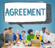 Conceito do contrato do negócio da parceria da cooperação do acordo Imagem de Stock Royalty Free