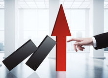 Conceito do crescimento da renda Foto de Stock