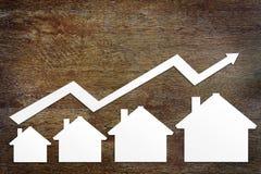 Conceito do crescimento das vendas dos bens imobiliários Foto de Stock
