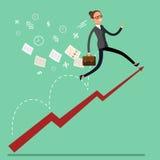 Conceito do crescimento do negócio ilustração do vetor