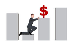 Conceito do crescimento econômico Fotos de Stock Royalty Free