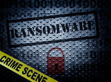 Conceito do crime de Ransomware Imagem de Stock