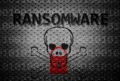 Conceito do crime de Ransomware fotografia de stock royalty free
