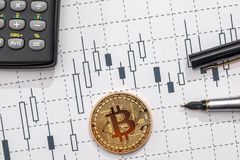 Conceito do cryptocurrency de troca imagem de stock royalty free