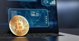 Conceito do cryptocurrency e da finança Fotografia de Stock