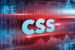 Conceito do CSS Fotografia de Stock