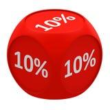 Conceito 10% do cubo do disconto Fotos de Stock Royalty Free