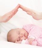 Conceito do cuidado das crianças. Imagem de Stock