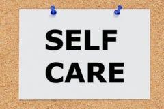 Conceito do cuidado do auto imagens de stock