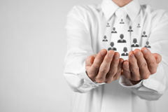 Conceito do cuidado do cliente ou dos empregados Imagem de Stock Royalty Free