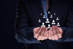 Conceito do cuidado do cliente ou dos empregados Imagens de Stock Royalty Free