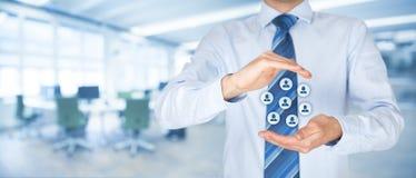 Conceito do cuidado do cliente ou dos empregados Foto de Stock Royalty Free