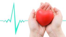 Conceito do cuidado do coração Fotografia de Stock Royalty Free