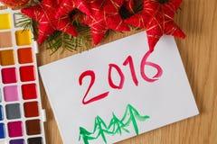 Conceito do cumprimento do Natal da criança Imagens de Stock