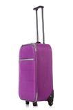 Conceito do curso com o suitacase da bagagem isolado Imagem de Stock