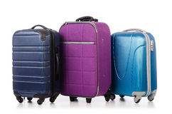 Conceito do curso com suitacase da bagagem Fotografia de Stock