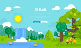 Conceito do curso de Eco Imagens de Stock