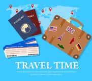 Conceito do curso e do turismo Imagens de Stock