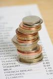 Conceito do custo de vida Imagem de Stock