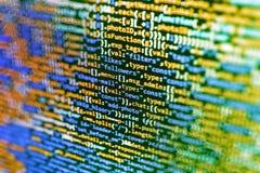 Conceito do Cyberspace da codificação imagem de stock