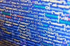 Conceito do Cyberspace da codificação fotografia de stock