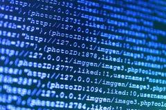 Conceito do Cyberspace da codificação Rede moderna da Web foto de stock royalty free