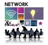 Conceito do Cyberspace da tecnologia de rede fotos de stock royalty free