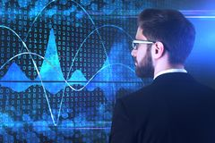 Conceito do Cyberspace e da inovação Fotografia de Stock Royalty Free