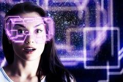 Conceito do Cyberspace e de sistema fotografia de stock