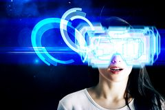 Conceito do Cyberspace e do equipamento imagens de stock royalty free