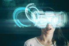 Conceito do Cyberspace e do simulador imagens de stock royalty free