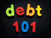 Conceito do débito de consumidor Fotografia de Stock