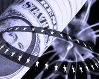 Conceito do dólar americano ilustração stock