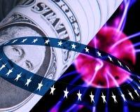 Conceito do dólar americano ilustração do vetor