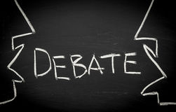 Conceito do debate Fotografia de Stock