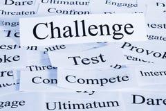 Conceito do desafio Imagens de Stock