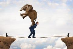 Conceito do desafio do negócio Imagens de Stock