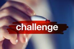 Conceito do desafio do negócio Fotografia de Stock
