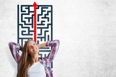 Conceito do desafio e do sucesso imagens de stock royalty free