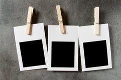 Conceito do desenhador - frames em branco da foto Imagens de Stock