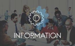 Conceito do desenvolvimento da análise da ação de informação de negócios Fotografia de Stock Royalty Free