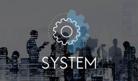 Conceito do desenvolvimento da análise da ação de negócio do sistema Imagem de Stock Royalty Free
