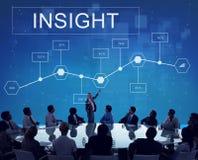 Conceito do desenvolvimento da analítica das estatísticas da introspecção do negócio fotos de stock