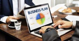 Conceito do desenvolvimento da estratégia do plano de negócios Fotos de Stock