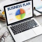 Conceito do desenvolvimento da estratégia do plano de negócios imagens de stock royalty free